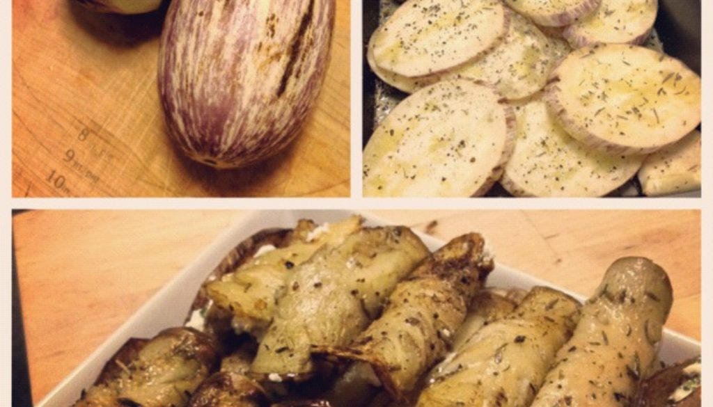 Eggplant Stuffed with Ricotta