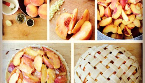 Peach, Ginger, Cardamom Pie
