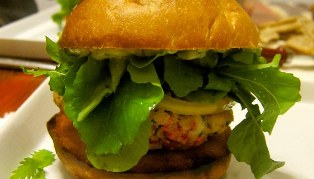 Tuna and Red Pepper Burgers
