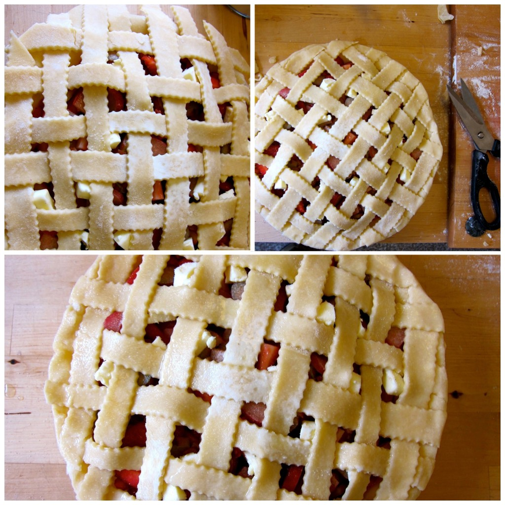 Form lattice crust by weaving pastry strips together.